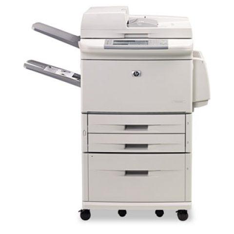 Refurbished HP LaserJet printer and scanner on wheels