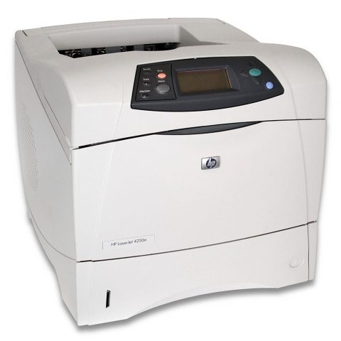 gently used HP LaserJet 4250n printer with multipurpose drawer