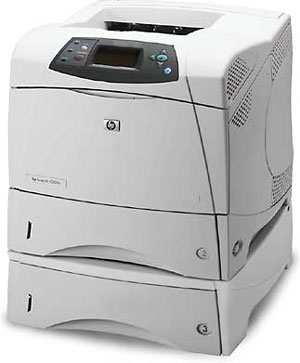 used HP LaserJet 4350tn with three printing trays