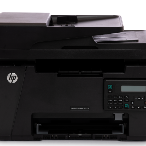 used black hp printer for sale online with keypad on front