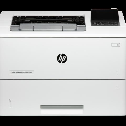 white HP M506 Laser Printer