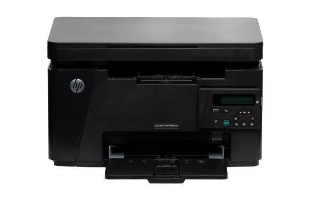 black HP M125nw LaserPrinter display